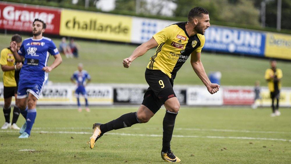Ça plane pour Chentouf, l'attaquant du Stade, auteur de six buts en trois rencontres.