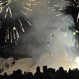 Spectacle de ski nocturne