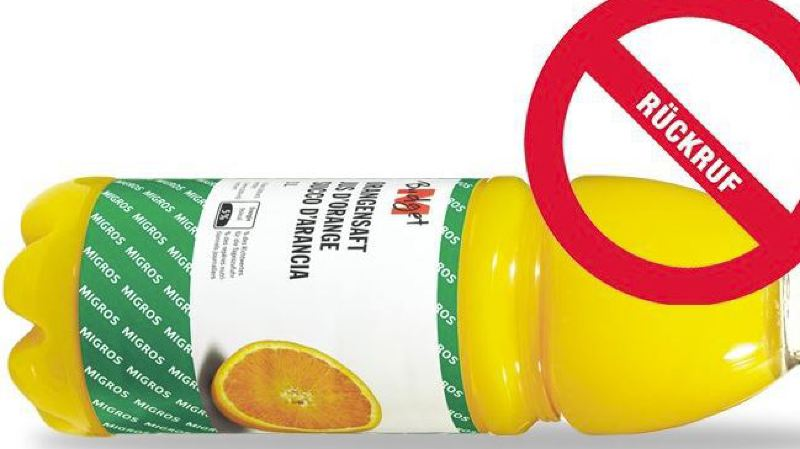 Rappel de produit: les jus d'orange M-Budget peuvent contenir des bouts de métal