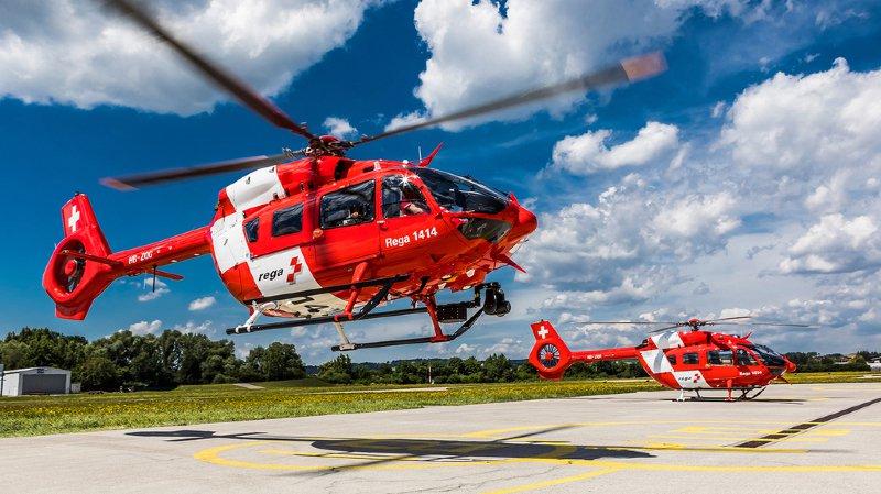 L'intervention a nécessité l'engagement d'une équipe de la Rega, du secours alpin suisse ainsi que l'équipe de soin du canton de Berne. (illustration)