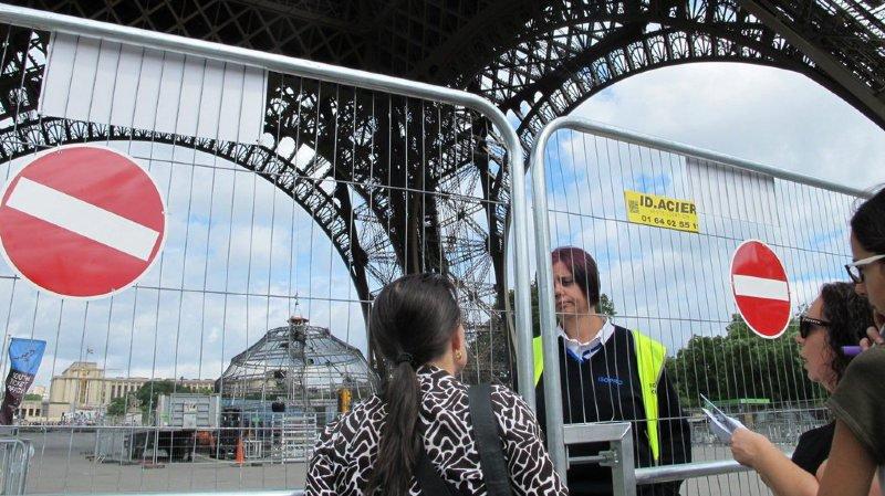 La Tour Eiffel fermée sur fond de conflit social (photo d'illustration)
