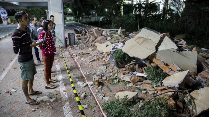 C'est le deuxième gros tremblement de terre en une semaine pour l'île de Lombok.