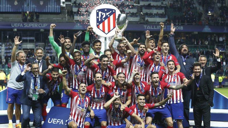 Football: l'Atletico Madrid bat le Real Madrid et remporte la Super Coupe d'Europe