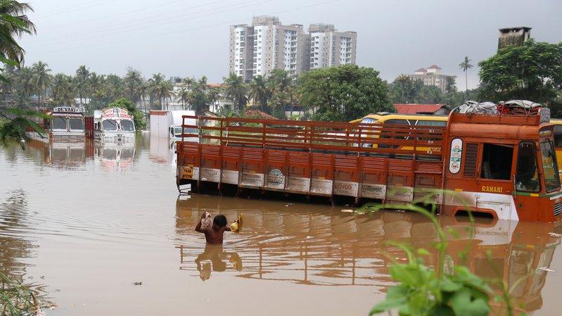 Inde: plus d'une centaine de morts dans les inondations au Kerala
