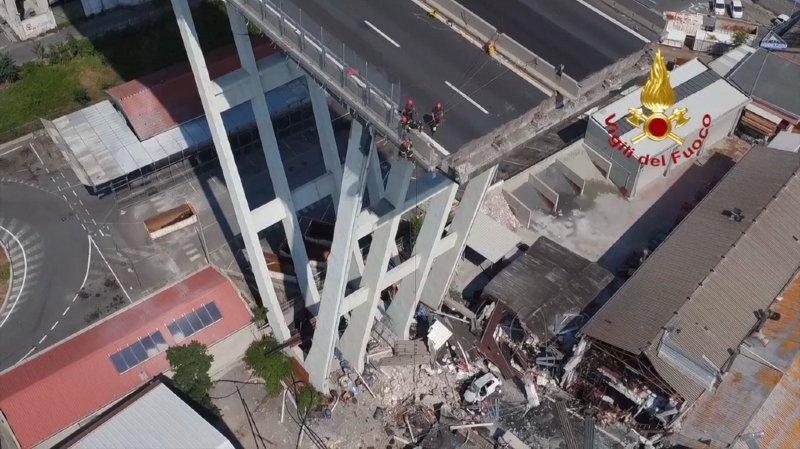 Pont effondré à Gênes: fin des opérations de recherche, le bilan atteint 43 morts