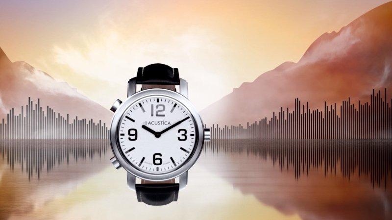 Cette montre a été développée spécialement pour les personnes aveugles, malvoyantes et malentendantes-malvoyantes.