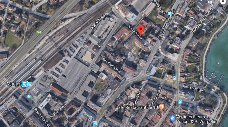La rue du Docteur Yersin sera fortement fréquentée ces prochaines années, notamment à cause de l'arrivée de l'entreprise Incyte à proximité, et par la création de Morges Gare-Sud.