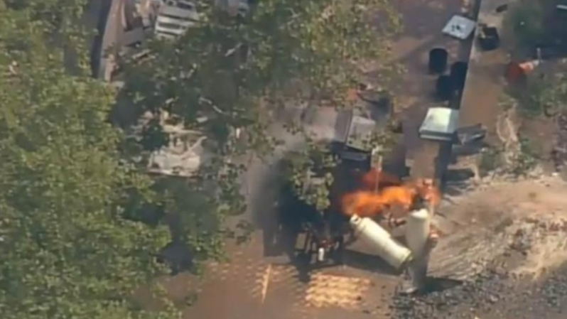 L'incendie a provoqué l'évacuation de la statue de la Liberté.