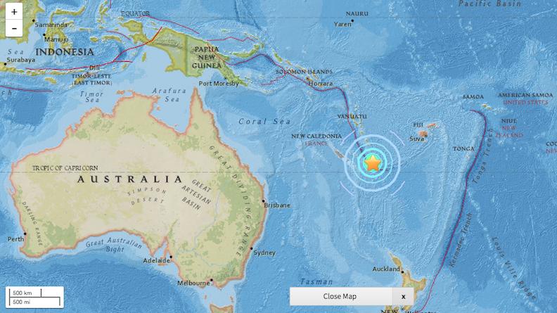 Alerte au tsunami levée après le violent séisme près de la Nouvelle-Calédonie