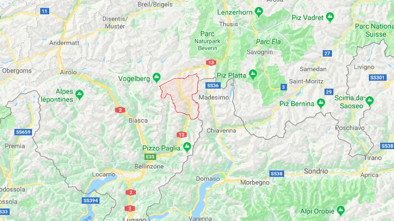 L'Allemand roulait en direction du nord sur l'autoroute A13, environ un kilomètre après le carrefour de Lostallo.