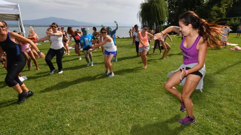 Le festival proposera des activités sportives, notamment de la danse, comme ici en 2017