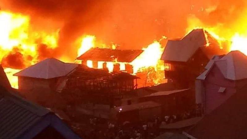 Incendie accidentel provoqué par des enfants: 200 maisons détruites à Bukavu en RDC
