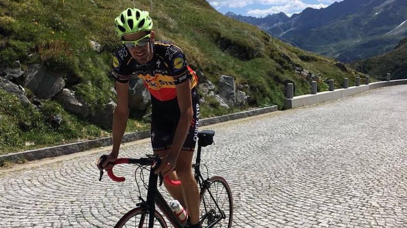 Le Copétan Bastien Quiquerez a conquis les Alpes suisses à vélo