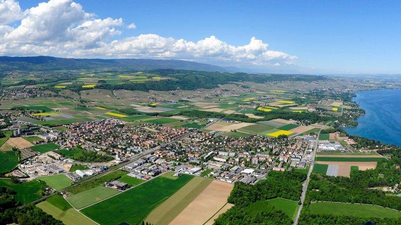 Une vue aérienne de Gland (photo d'illustration).