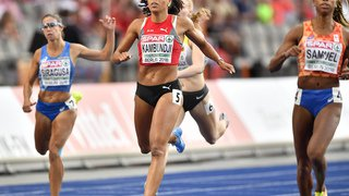 La Suissesse Mujinga Kambundji termine 4ème au 200m dames