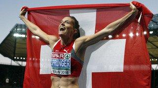 Européens de Berlin: la Vaudoise Lea Sprunger décroche l'or du 400 m haies!