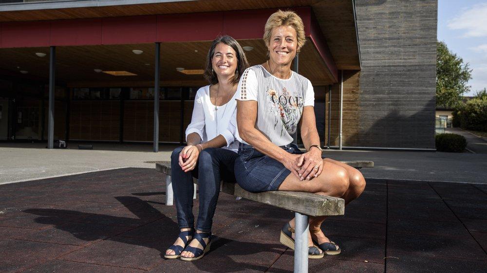 Mélanie Gras, directrice de l'Ajet (à g.) et Stéphanie Emery, présidente du comité de Direction, font le point sur l'association de Terre Sainte.