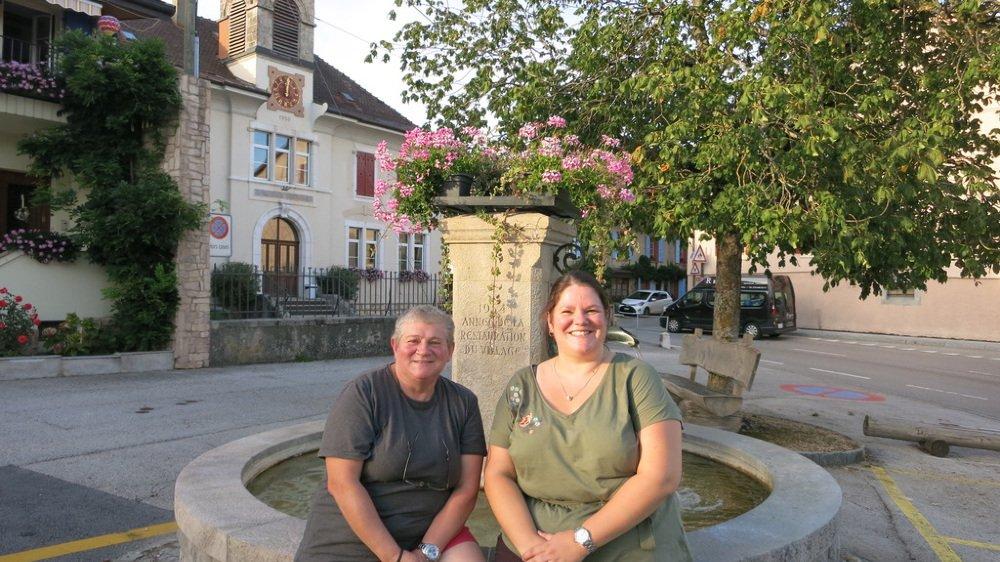 Edmée Borel et Marion Marmillon (de g. à dr.), les deux candidates à l'exécutif.