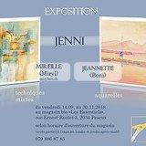 Mireille et Jeannette Jenni, peinture