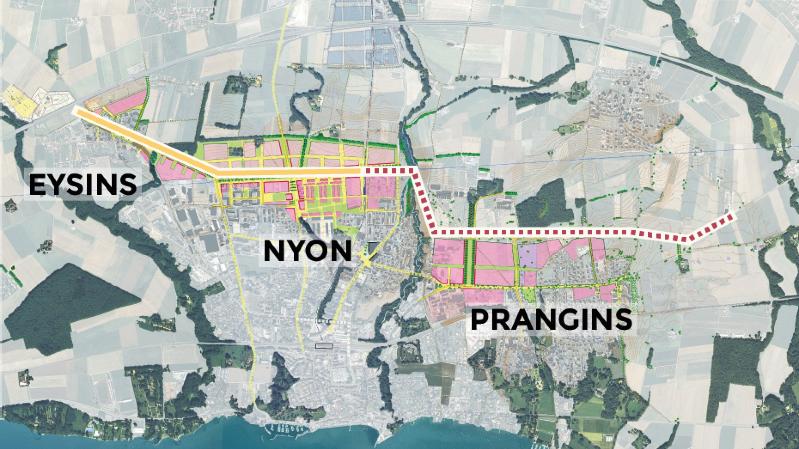 Prangins ne veut plus de la route de distribution urbaine