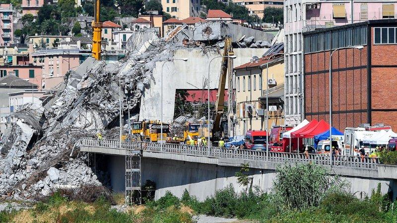 Pont effondré à Gênes: Autostrade n'aurait pas effectué les contrôles de sécurité nécessaires