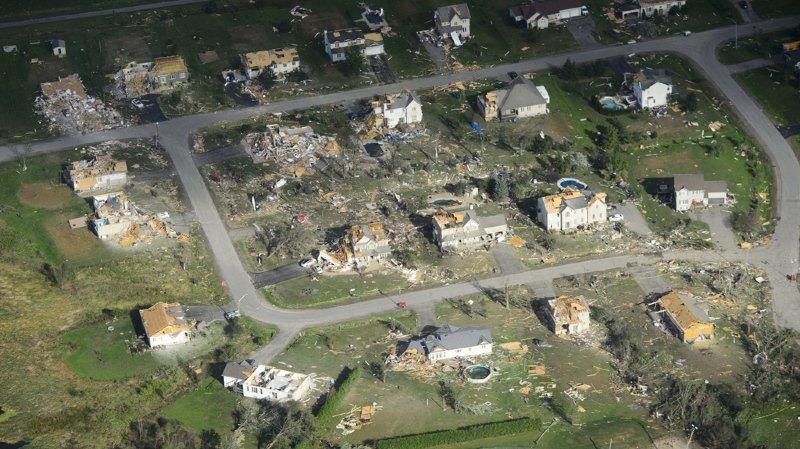 Une trentaine de personnes ont été blessées lors du passage de la tornade, survenue vendredi en fin d'après-midi dans une zone à cheval sur l'Ontario et le Québec.