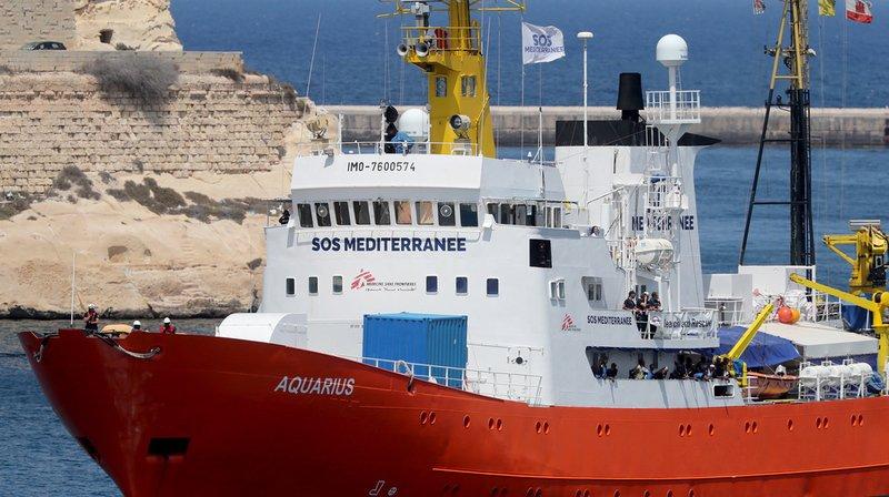 Migrants: des parlementaires de tous bords se mobilisent pour que le navire humanitaire l'Aquarius flotte sous pavillon suisse