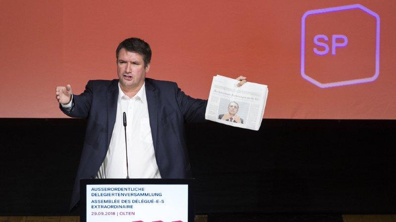 Assemblée du PS: Christian Levrat s'en prend au ministre des affaires étrangères Ignazio Cassis