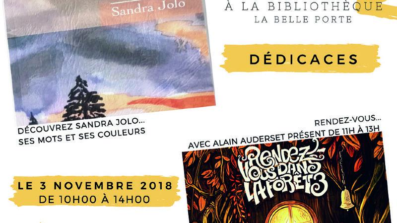 Dédicaces de Sandra Jolo et Alain Auderset