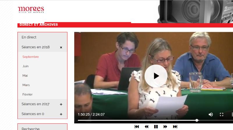Question du jour: combien coûte la diffusion en direct d'une séance du Conseil de Morges?