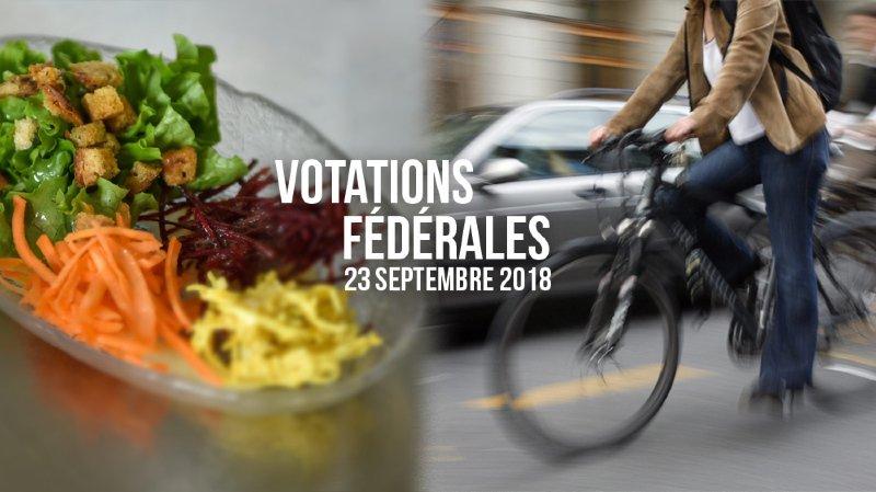 Les Suisses votent ce dimanche sur leur mobilité et sur leur alimentation.