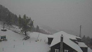 Premières chutes de neige à Pila (It)
