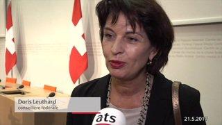 Doris Leuthard a annoncé son retrait