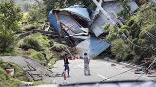 Séisme au Japon: nombreux glissements de terrain