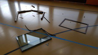 A Marens, à Nyon, une fenêtre tombe durant un entraînement de basket