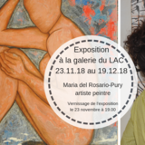 Exposition de peinture, Maria del Rosario Pury