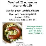 Repas de soutien - Papet Vaudois