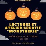"""Lectures et atelier créatif """"Monstrerie"""""""