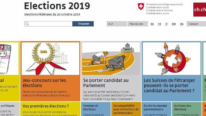 Fédérales 2019: la Confédération et les cantons lancent un site dédié aux élections