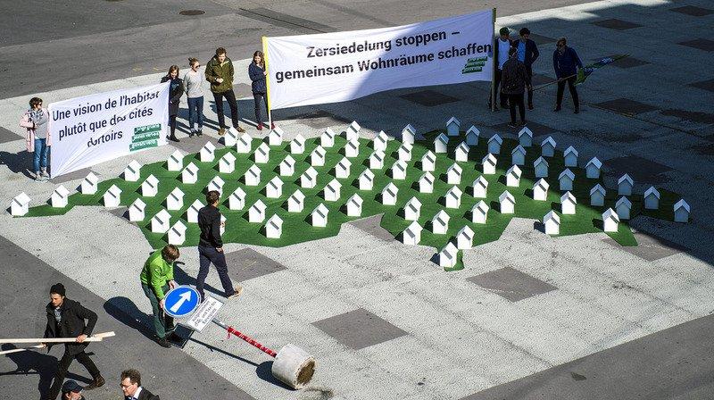 Votations fédérales: le peuple se prononcera le 10 février sur l'initiative des Jeunes Verts contre le mitage urbain