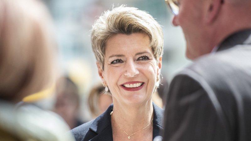 Succession Schneider-Ammann: la Saint-Galloise Karin Keller-Sutter (PLR) candidate