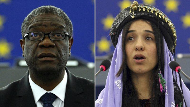 Le prix Nobel de la paix est attribué au Congolais Denis Mukwege et à la Yazidie Nadia Murad