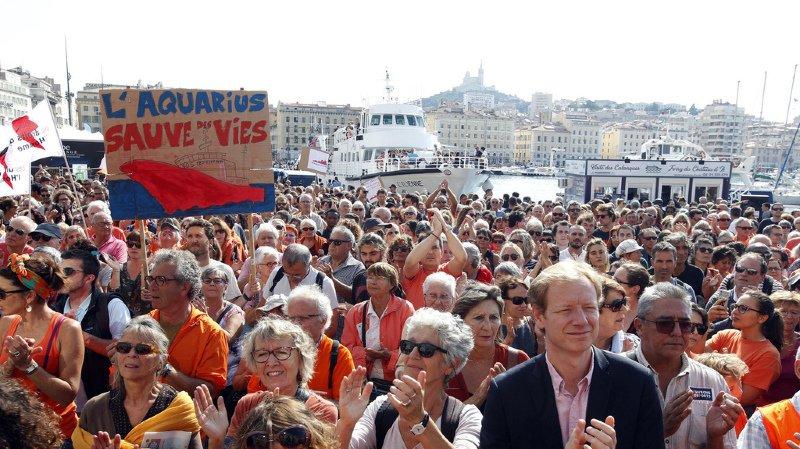 Europe: une cinquantaine de villes manifestent en faveur de l'Aquarius