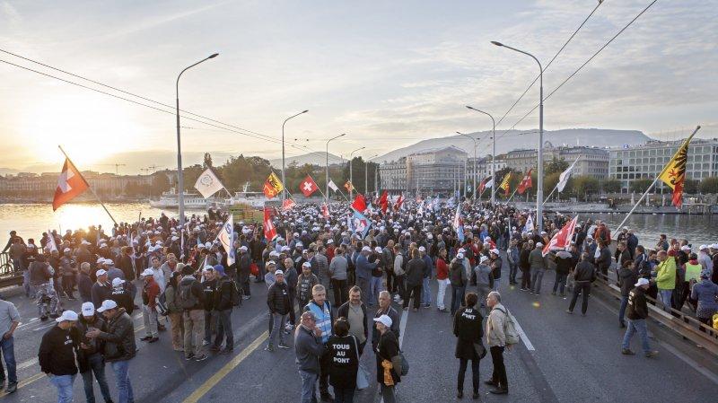 Quelque 1800 maçons ont défilé dans les rues de Genève