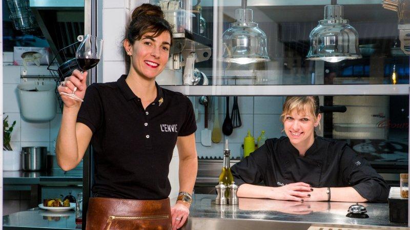 A la tête de l'Envie, Célia Russo (propriétaire et sommelière) et Elodie Schenk (cheffe de cuisine) ont convaincu les experts du Gault&Millau. Leur restaurant/bar à vin entre avec 13 points, et bien des éloges.