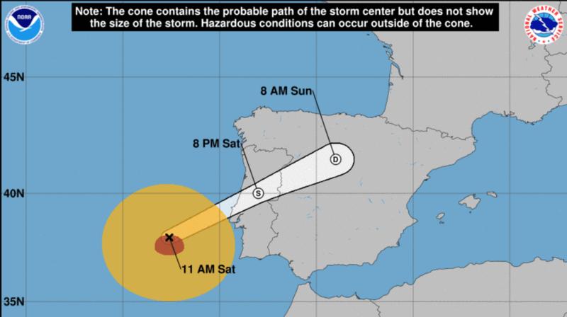 Portugal: le pays est en alerte rouge en attendant l'ouragan Leslie