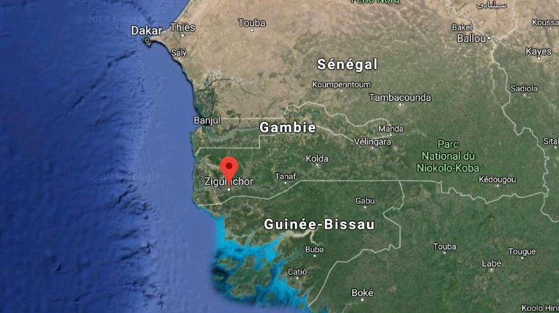 Le groupe se trouvait dans la ville de Ziguinchor, dans le sud du Sénégal.