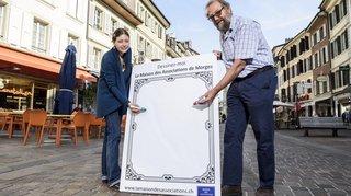 Morges: les passants pourront dessiner sur les affiches