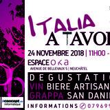 Italia a tavola dégustation de produits italiens