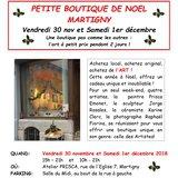 La petite boutique de Noël des Artistes